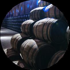 los arango añejo oak aging barrels