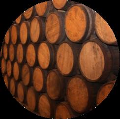 los arango reposado oak aging barrels